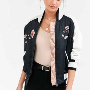 Urban outfitters satin bomber jacket